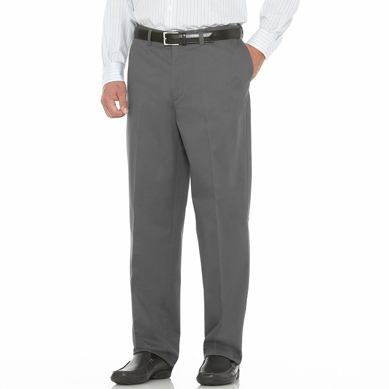 Men's Savane Performance Straight-Fit Easy-Care Flat-Front Chinos