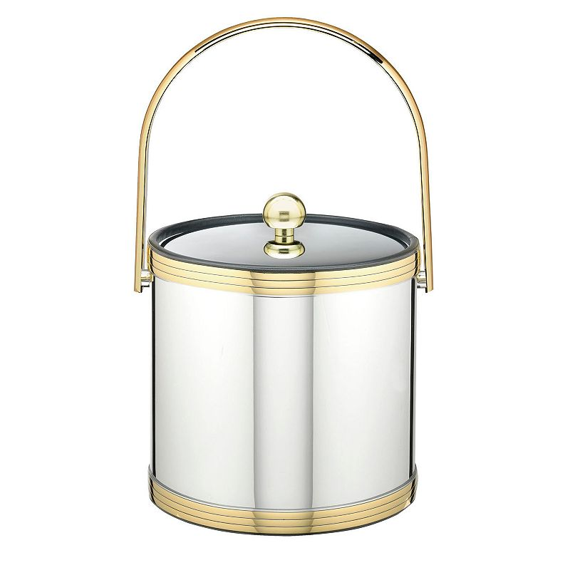 Kraftware Mylar II 3-qt. Polished Brass Ice Bucket
