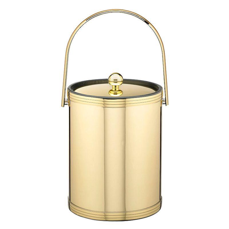 Kraftware Mylar II 5-qt. Polished Brass Ice Bucket