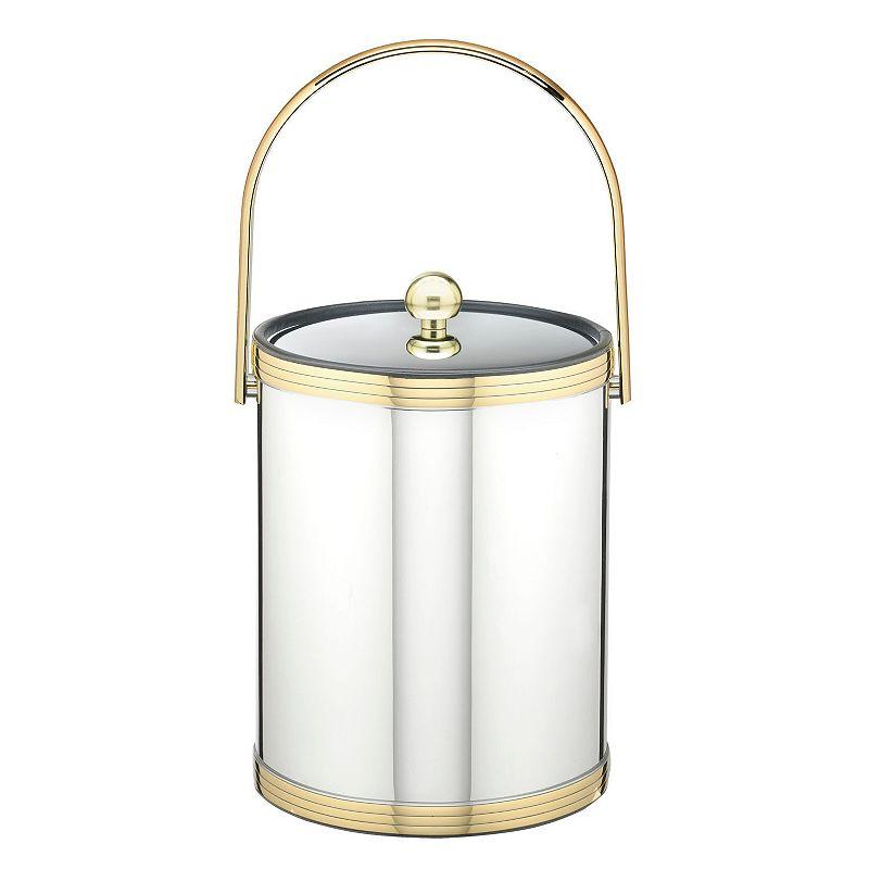 Kraftware Mylar II 5-qt. Polished Chrome and Brass Ice Bucket
