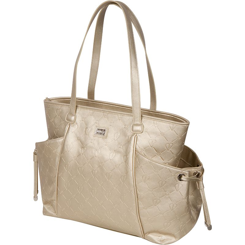 The Bumble Collection Embossed Leather Diaper Bag