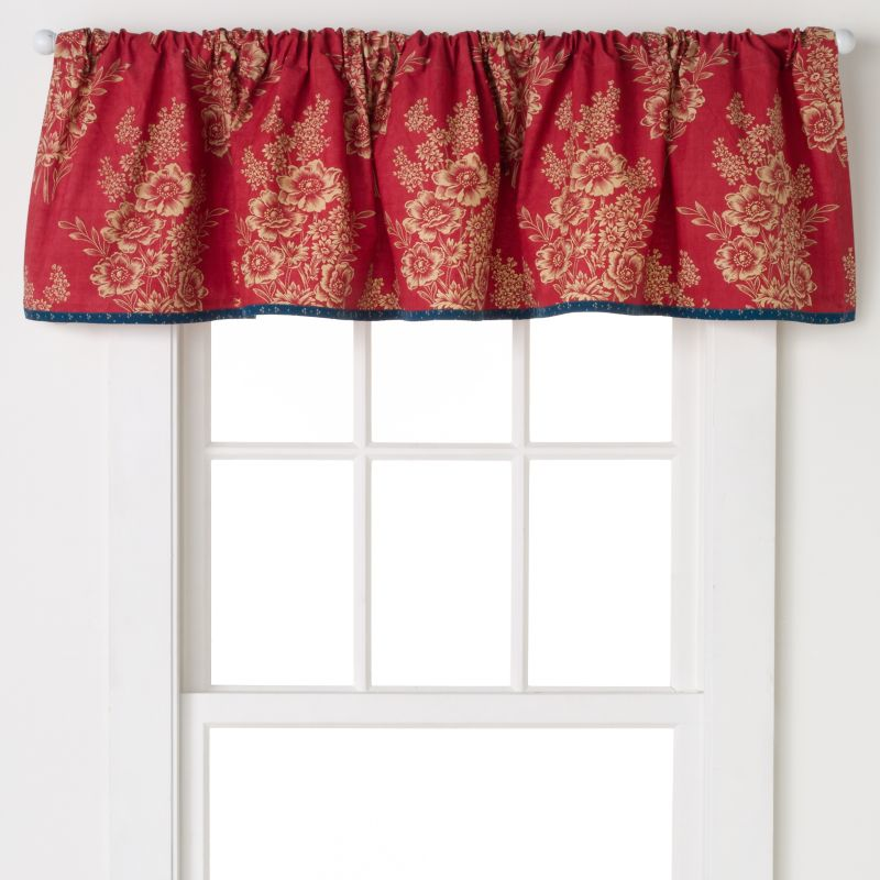 Red Cotton Valance Kohl S