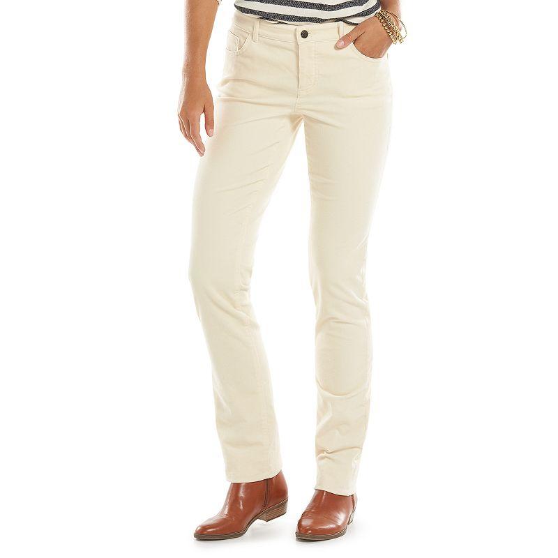 Chaps Corduroy Straight-Leg Pants - Women's