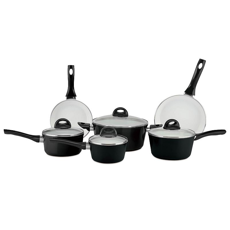Cerastone Pressure Forged Series 10-pc. Nonstick Ceramic Cookware Set