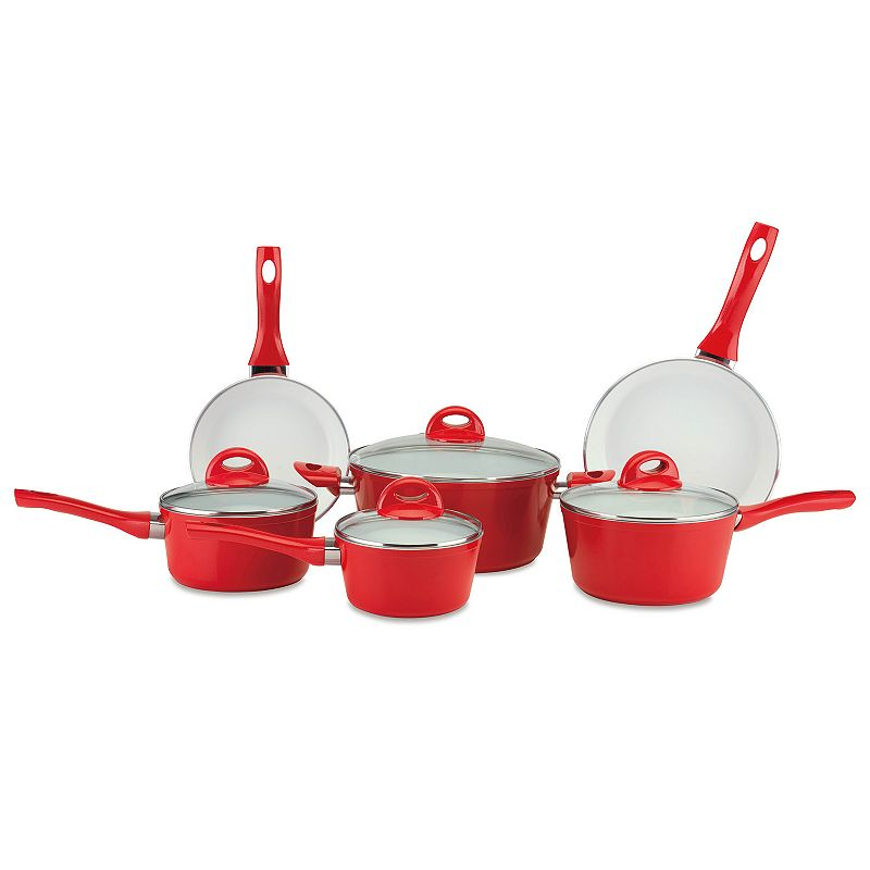 Cerastone Pressure Forged Series 10-pc. Nonstick Ceramic Cookware Set