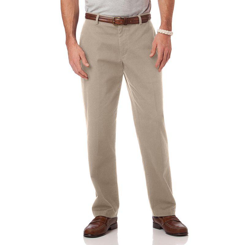 Big & Tall Chaps Classic-Fit Twill Flat-Front Pants