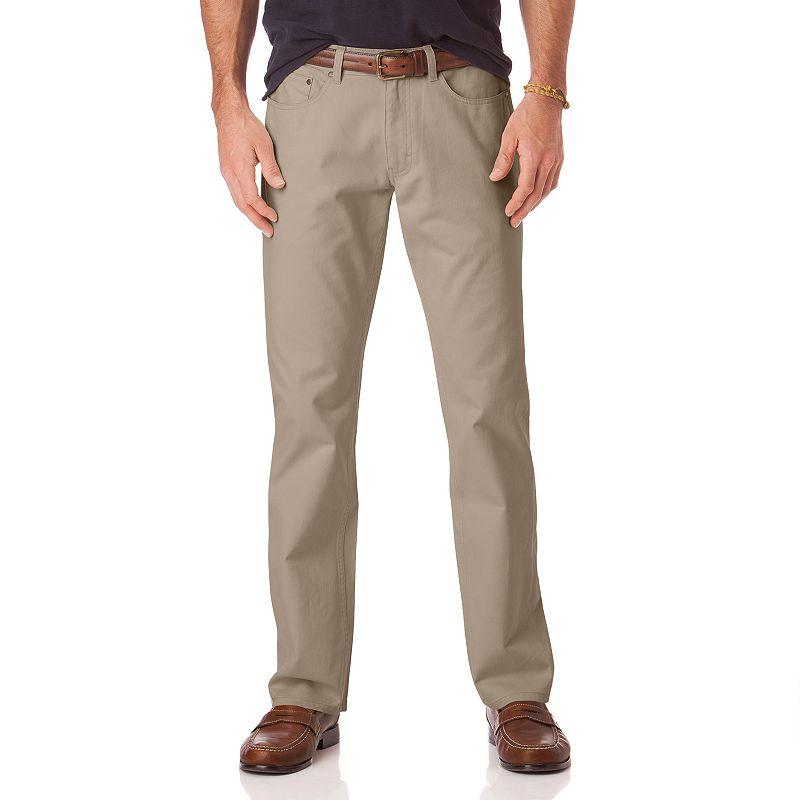 Men's Chaps Classic-Fit 5-Pocket Twill Flat-Front Pants