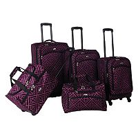 American Flyer Astor 5-Piece Spinner Luggage Set