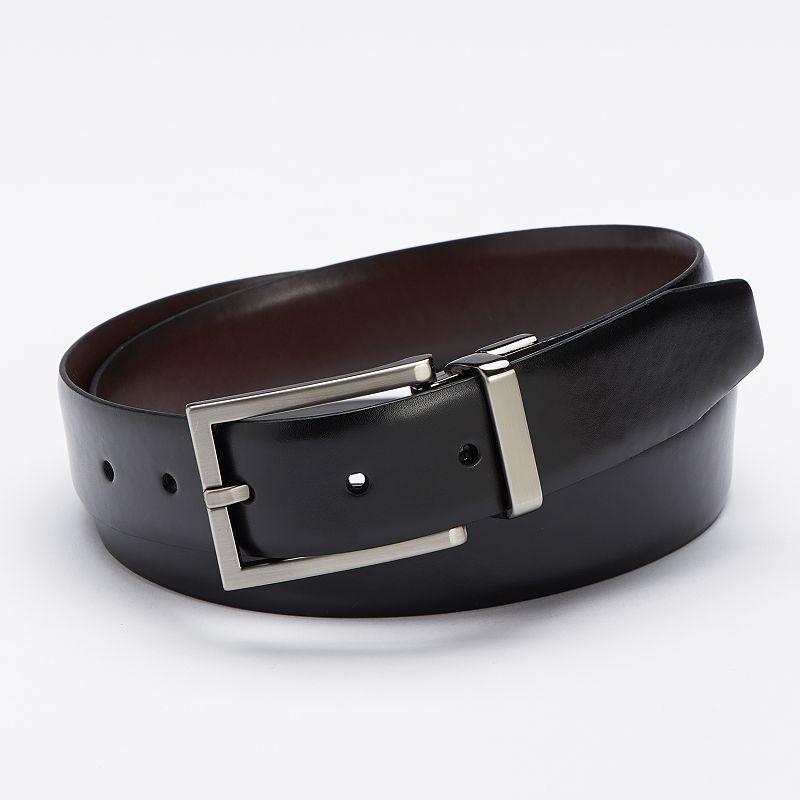 Apt. 9® Saffiano Calf Grain Reversible Dress Belt - Men