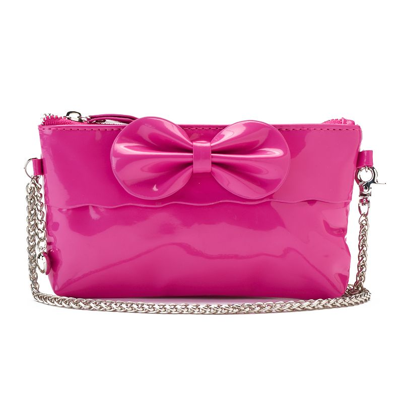 Bow & Heart Charm Shoulder Bag - Girls