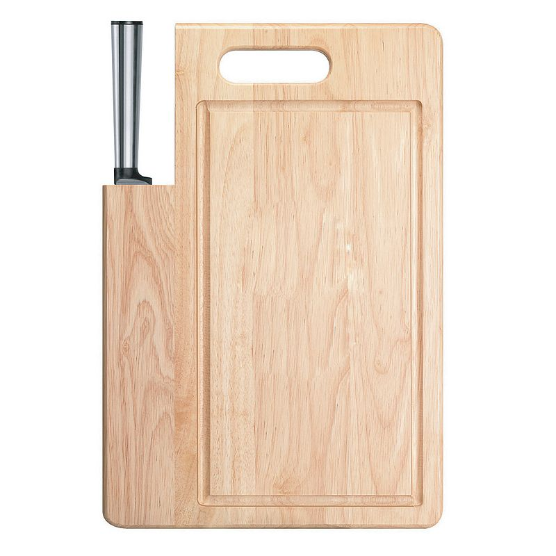 Ginsu Koden Series 2-pc. Santoku Knife and Cutting Board Set