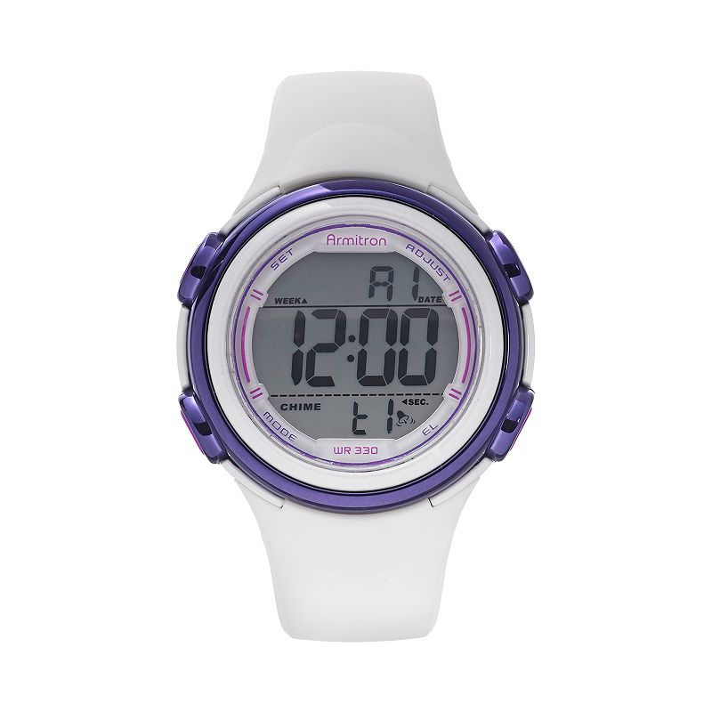 Armitron Women's Digital Watch - 45/7037WHT