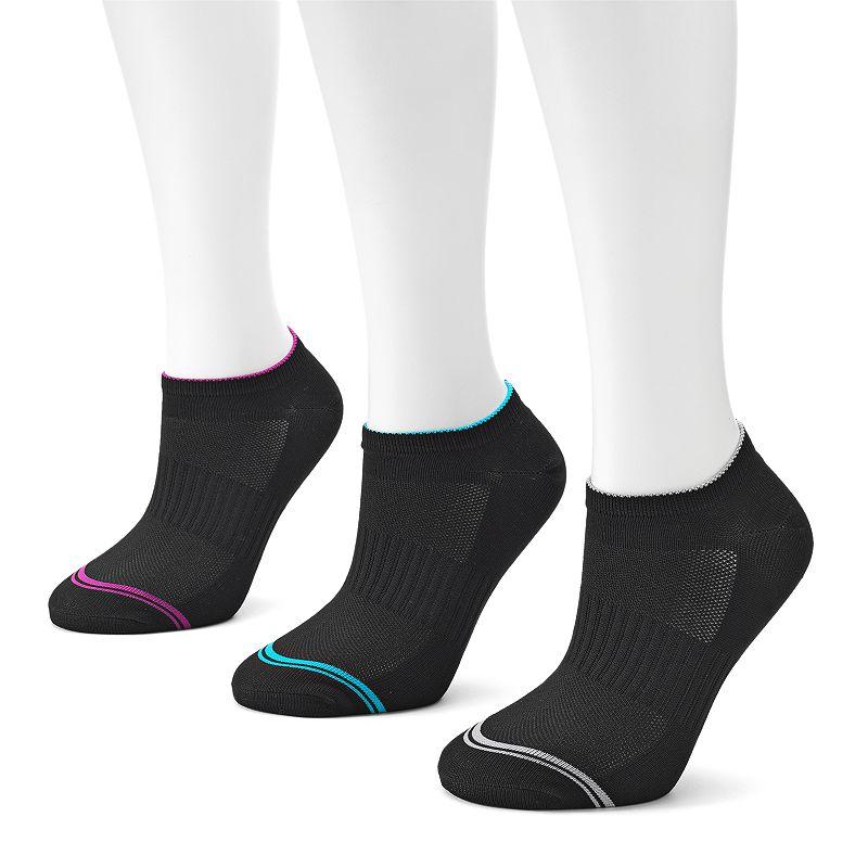 FILA SPORT® 3-pk. Performance Microfiber No-Show Socks