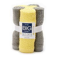The Big One Solid 6-Pack Washcloths