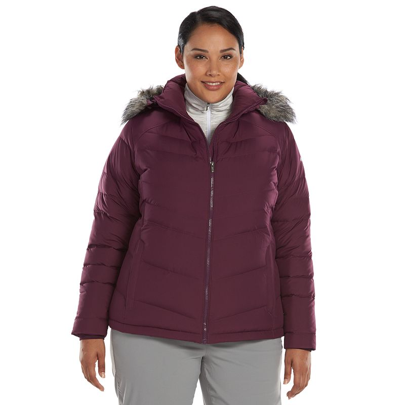Plus Size Columbia Hooded Down Puffer Jacket