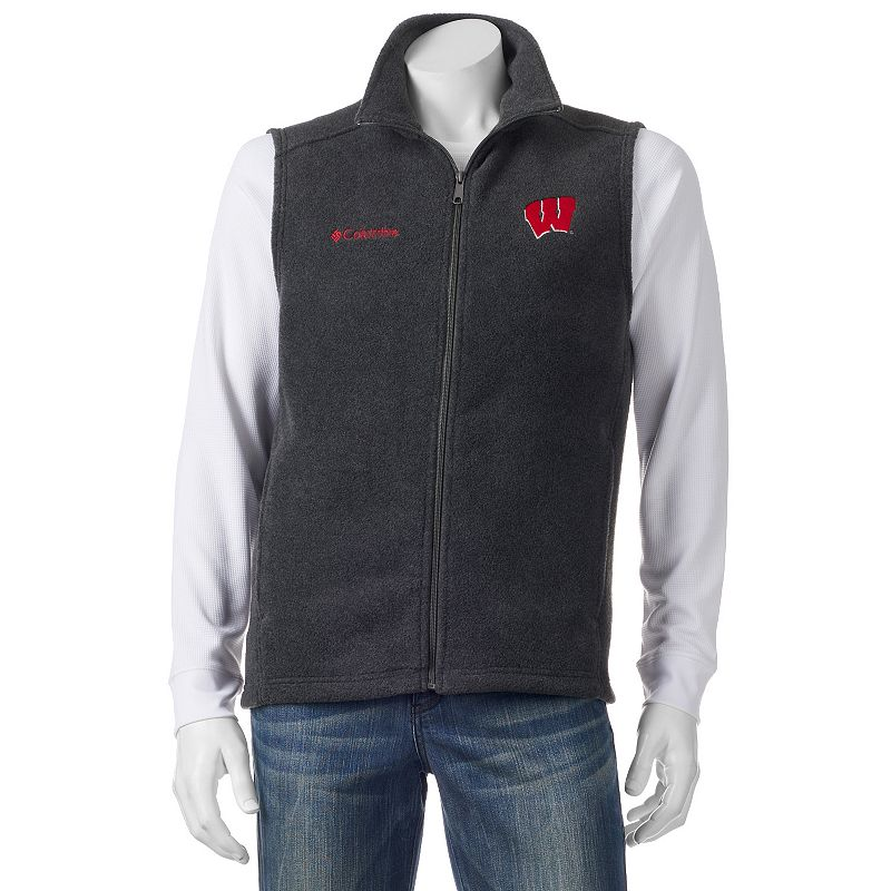 Men's Columbia Wisconsin Badgers Flanker Fleece Vest