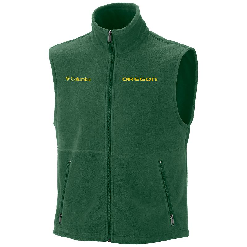 Men's Columbia Oregon Ducks Flanker Fleece Vest