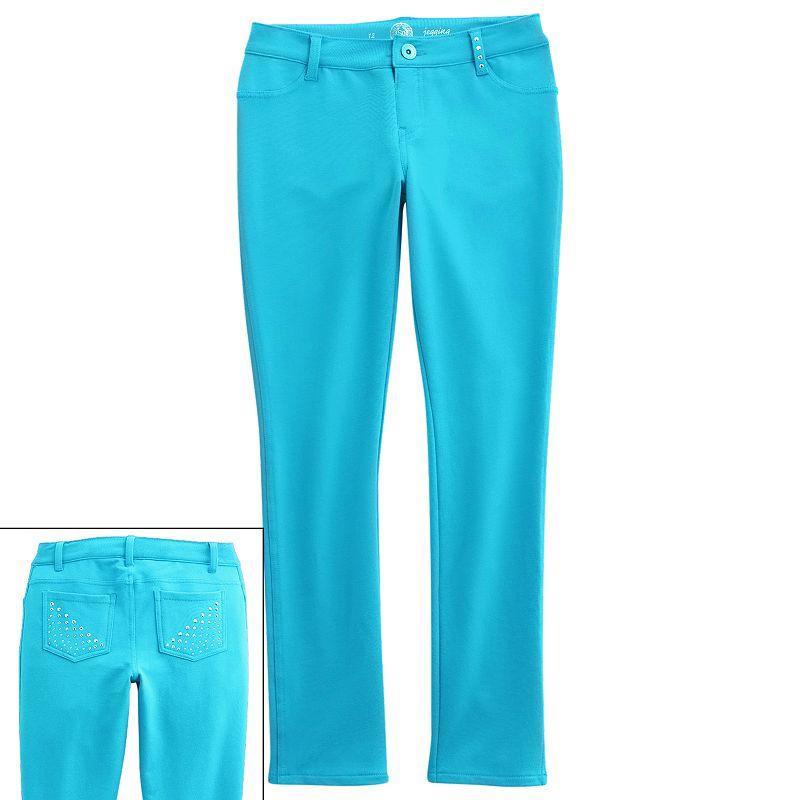 Girls 7-16 & Plus Size SO® Studded Knit Jeggings