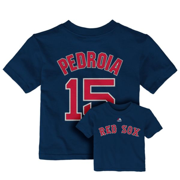 Toddler Majestic Boston Red Sox Dustin Pedroia Tee