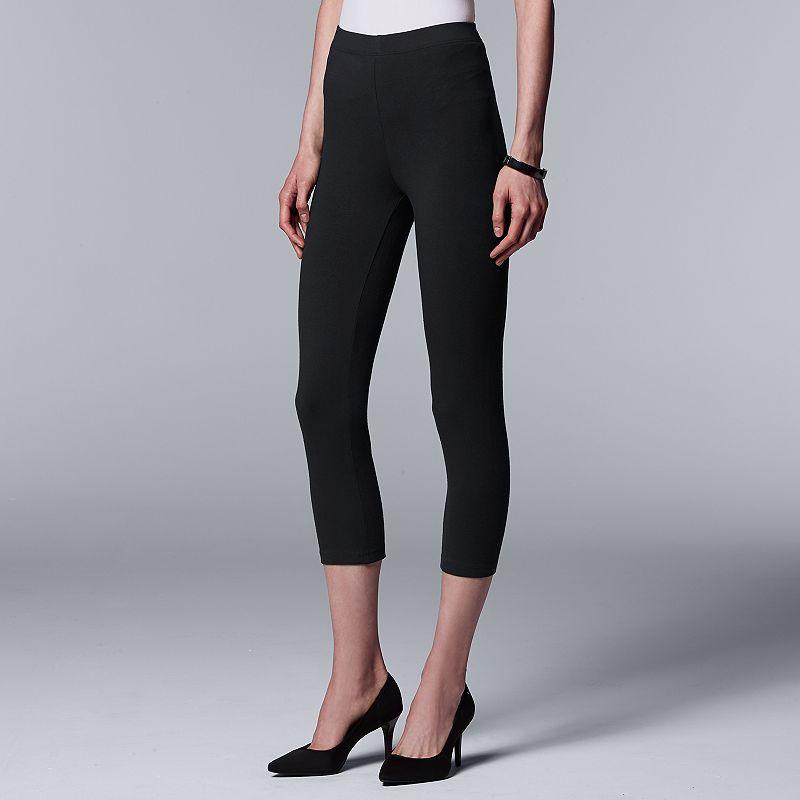 Simply Vera Vera Wang Cotton Capri Leggings
