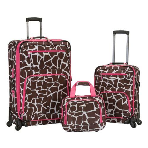 Rockland Luggage, 3-pc. Expandable Spinner Luggage Set
