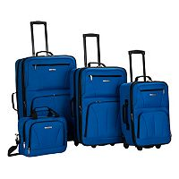 Rockland 4-Piece Wheeled Luggage Set