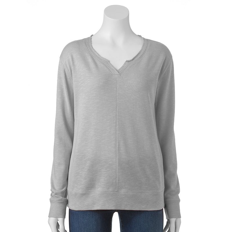 Women's SONOMA Goods for Life™ Slubbed French Terry Sweatshirt