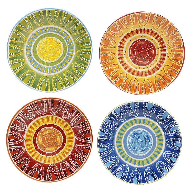 Certified International Tapas by Joyce Shelton Studios 4-pc. Dinner Plate Set