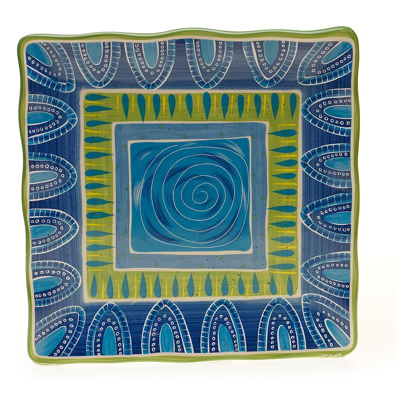 Certified International Tapas by Joyce Shelton Studios 13-in. Square Serving Platter