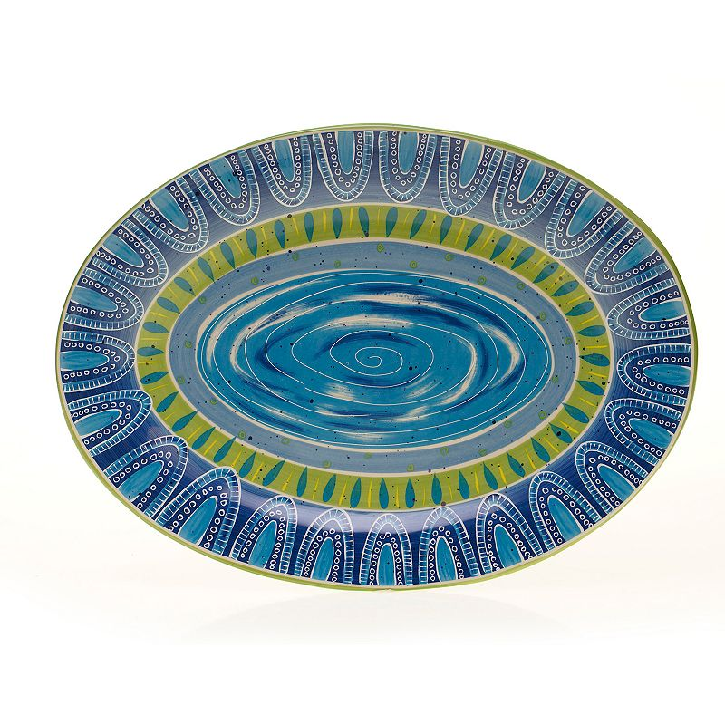 Certified International Tapas by Joyce Shelton Studios 16-in. Oval Serving Platter
