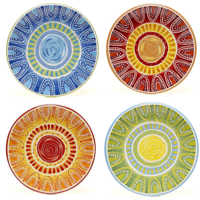 Certified International Tapas by Joyce Shelton Studios 4-pc. Canape Plate Set