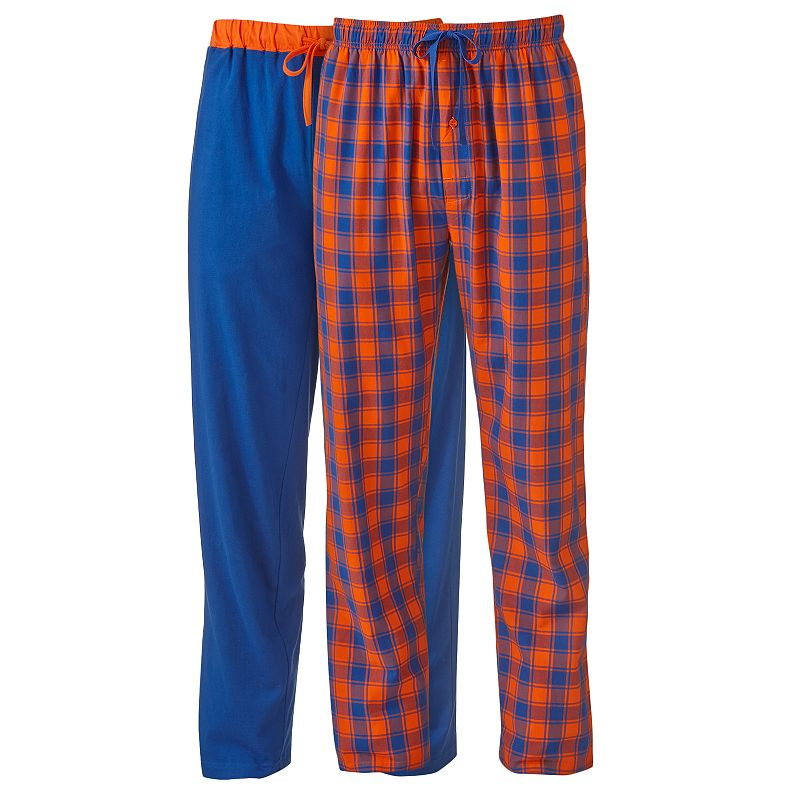 Men's Hanes 2-pk. Plaid & Solid Knit Lounge Pants