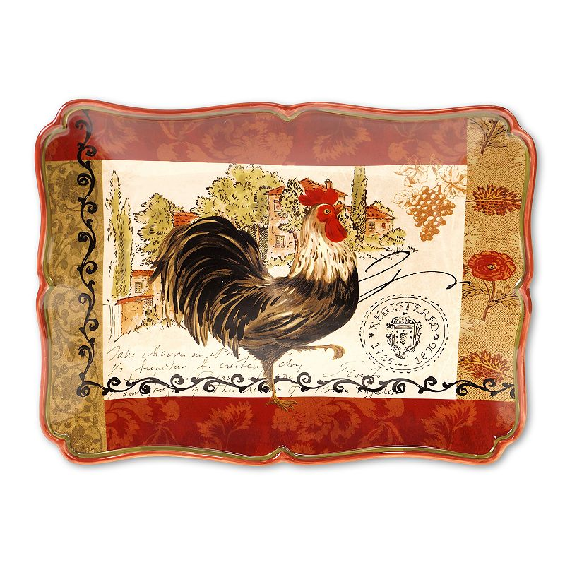 Certified International Tuscan Rooster by Pamela Gladding 16-in. Serving Platter
