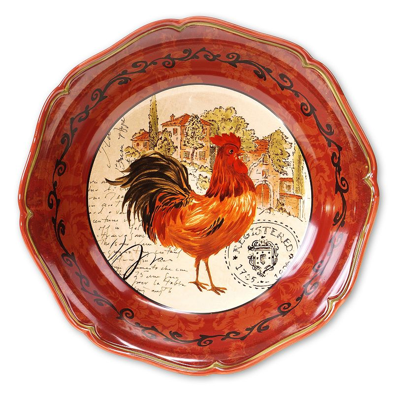 Certified International Tuscan Rooster by Pamela Gladding 12.75-in. Pasta Serving Bowl