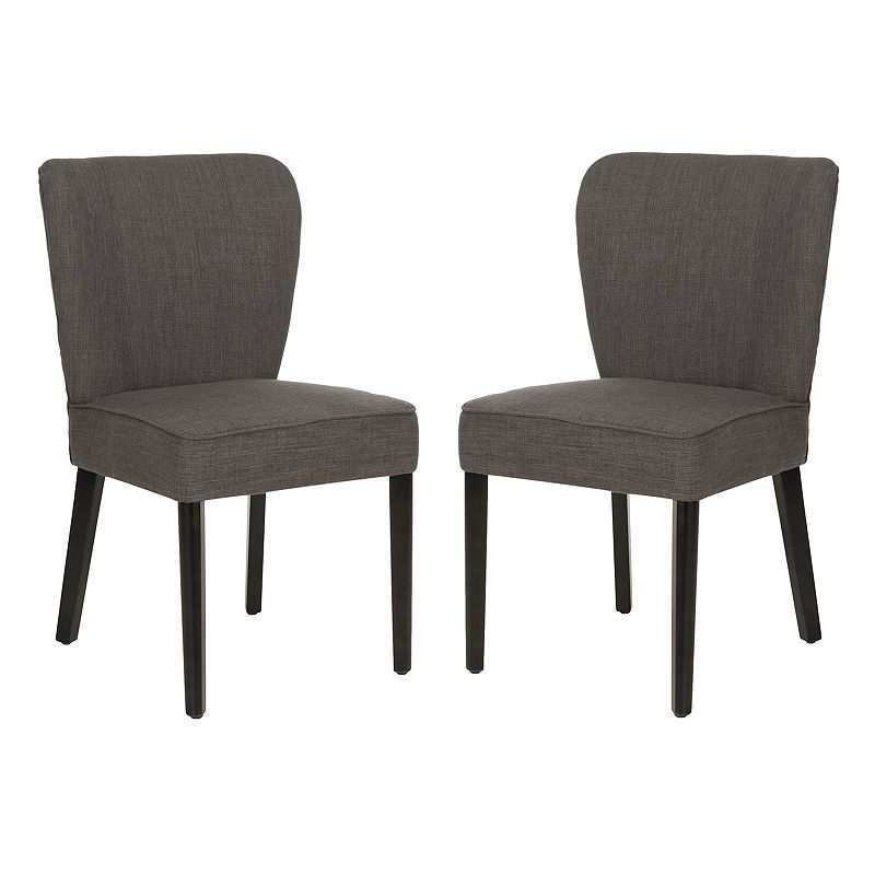 Safavieh 2-pc. Clifford Charcoal Brown Side Chair Set