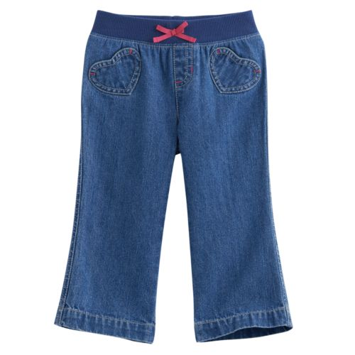Baby Girl Jumping Beans® Heart Jeans