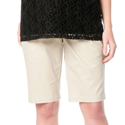 Oh Baby by Motherhood™ Secret Fit Belly Twill Bermuda Shorts - Maternity