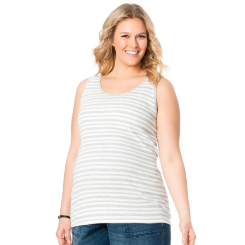 Oh Baby by Motherhood™ Striped Ribbed Tank - Maternity Plus