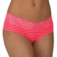 Juniors' Candie's® Microfiber Lace-Trim Hipster