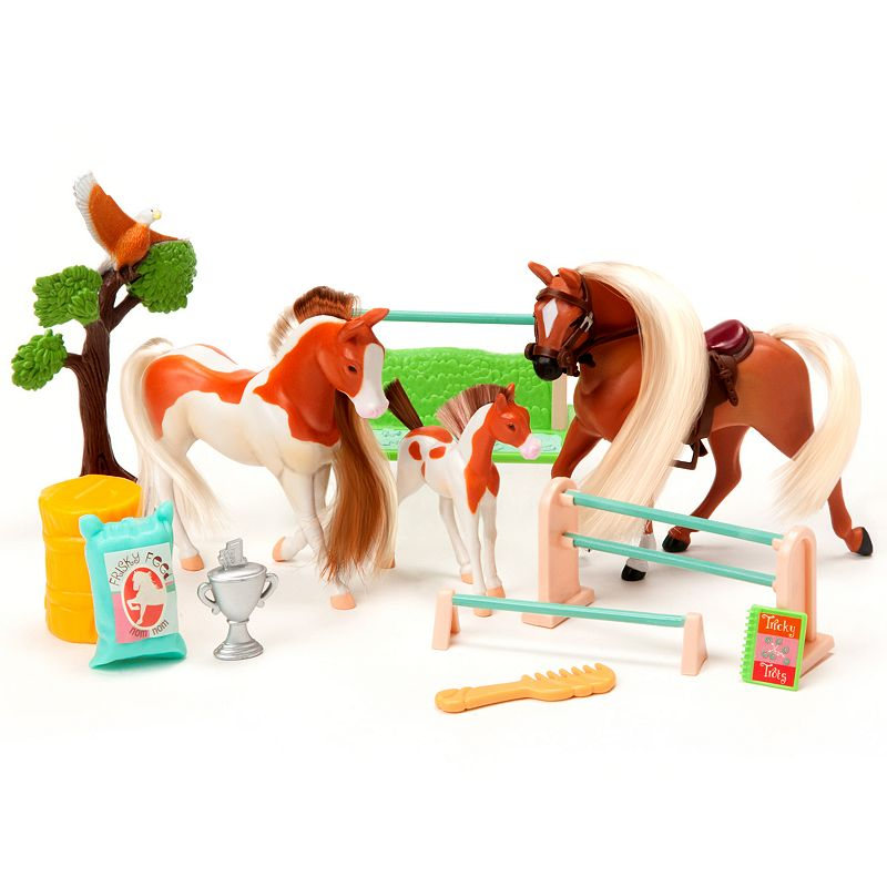 Horse Play Palomino and Painted Family Champions Horse Set