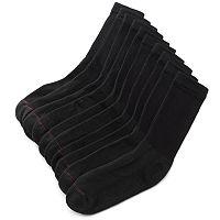 Men's Hanes 10-pk. Black Crew Socks