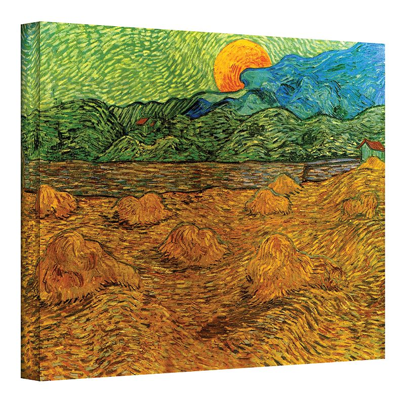 18'' x 24'' ''Evening Landscape with Rising Moon'' Canvas Wall Art by Vincent van Gogh