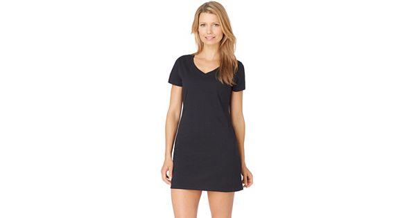 Women 39 s jockey pajamas modern cotton sleep shirt for Women s flannel sleep shirt