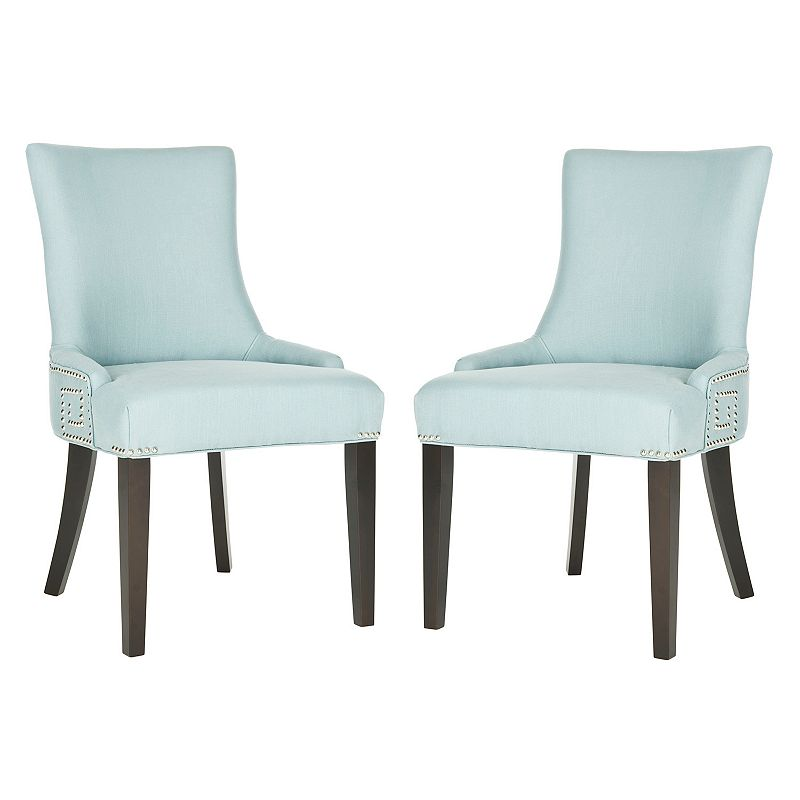 Safavieh 2-pc. Gretchen Blue Linen Side Chair Set