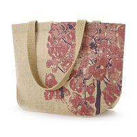 Jute Bags Carolina Floral Jute Shopper