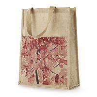 Jute Bags Bethanie Floral Jute Tote