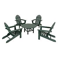 POLYWOOD® 5-pc. Classic Folding Adirondack Chair & Table Set - Outdoor
