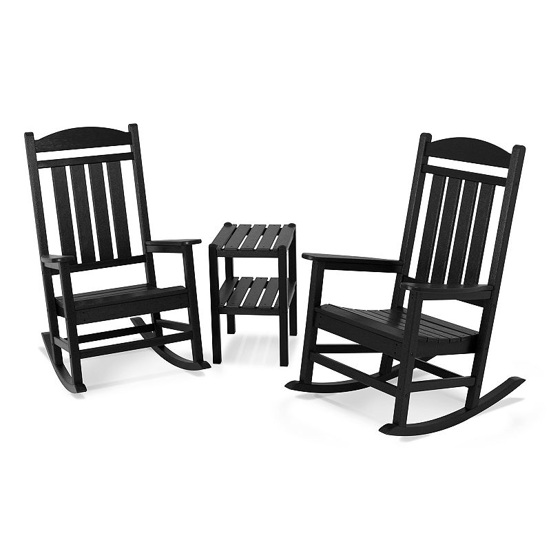 POLYWOOD 3-pc. Presidential Rocking Chair and Table Set - Outdoor