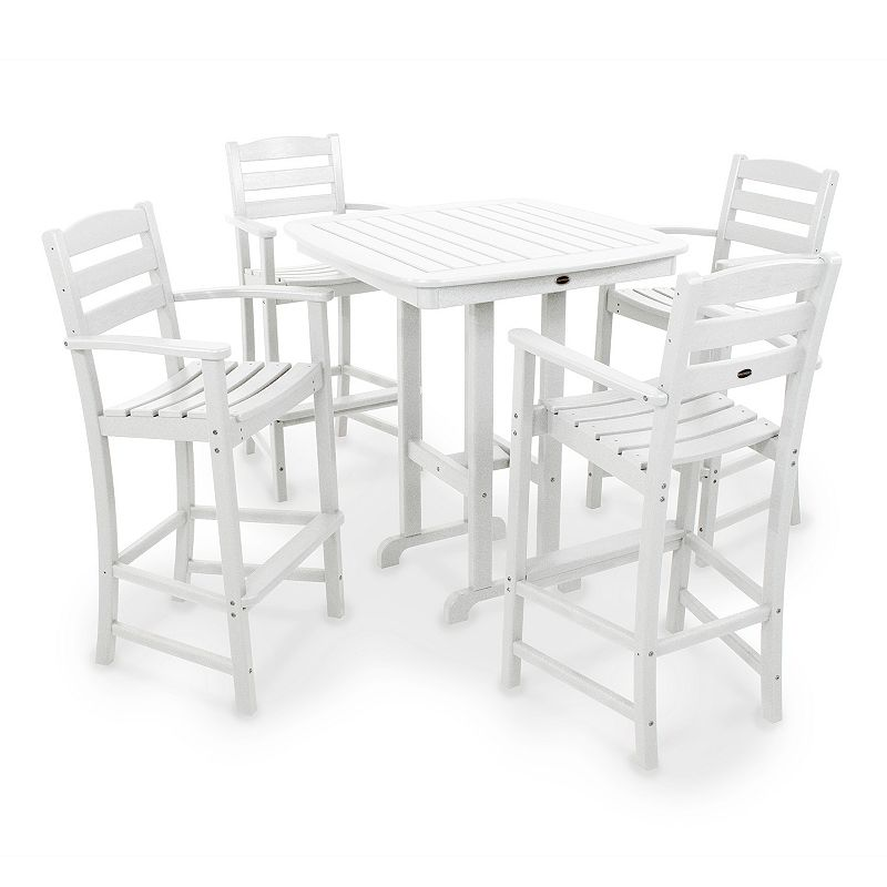 POLYWOOD 5-pc. La Casa Cafe Bar Chair and Table Set - Outdoor