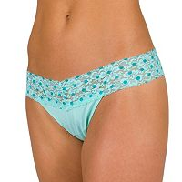 Juniors' Candie's® Lace-Waist Microfiber Thong